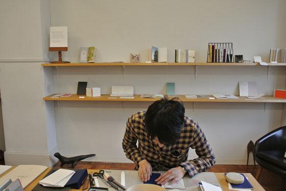「手帖と製本の仕事」 colonbooks (名古屋) 2013.3.20-25