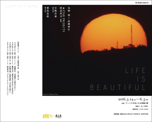 「Life Is Beautiful」2016 5.14-6.5 @アートラボあいち大津橋